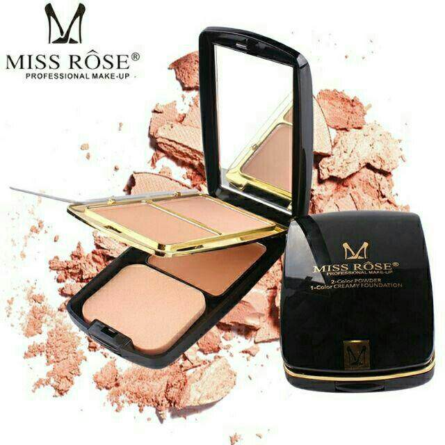 FREE GIFTMiss Rose 3 in 1 Compact Powder With Foundation