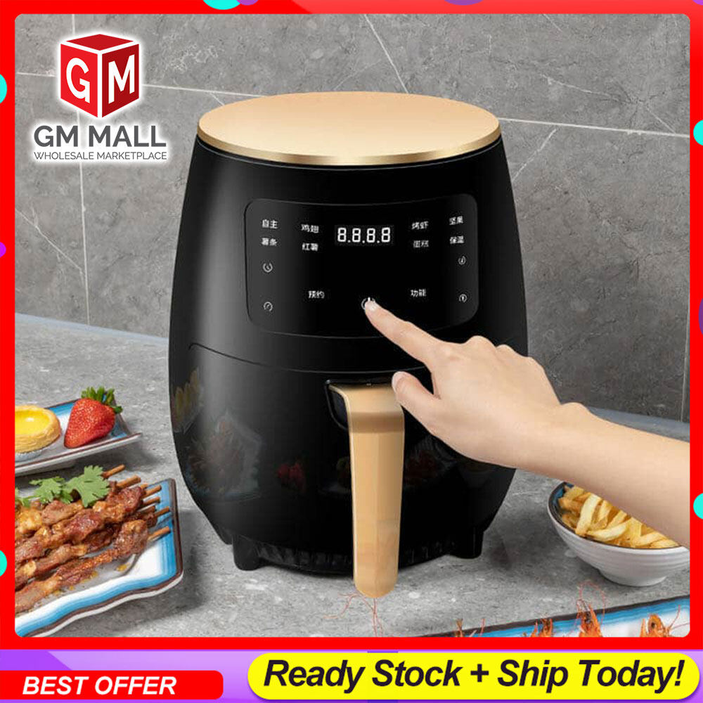 EXCLUSIVE Digital Air Fryer Oil Free Single Pod Non-Stick Kitchen Aid Healthy Cooker Large (4.5L)