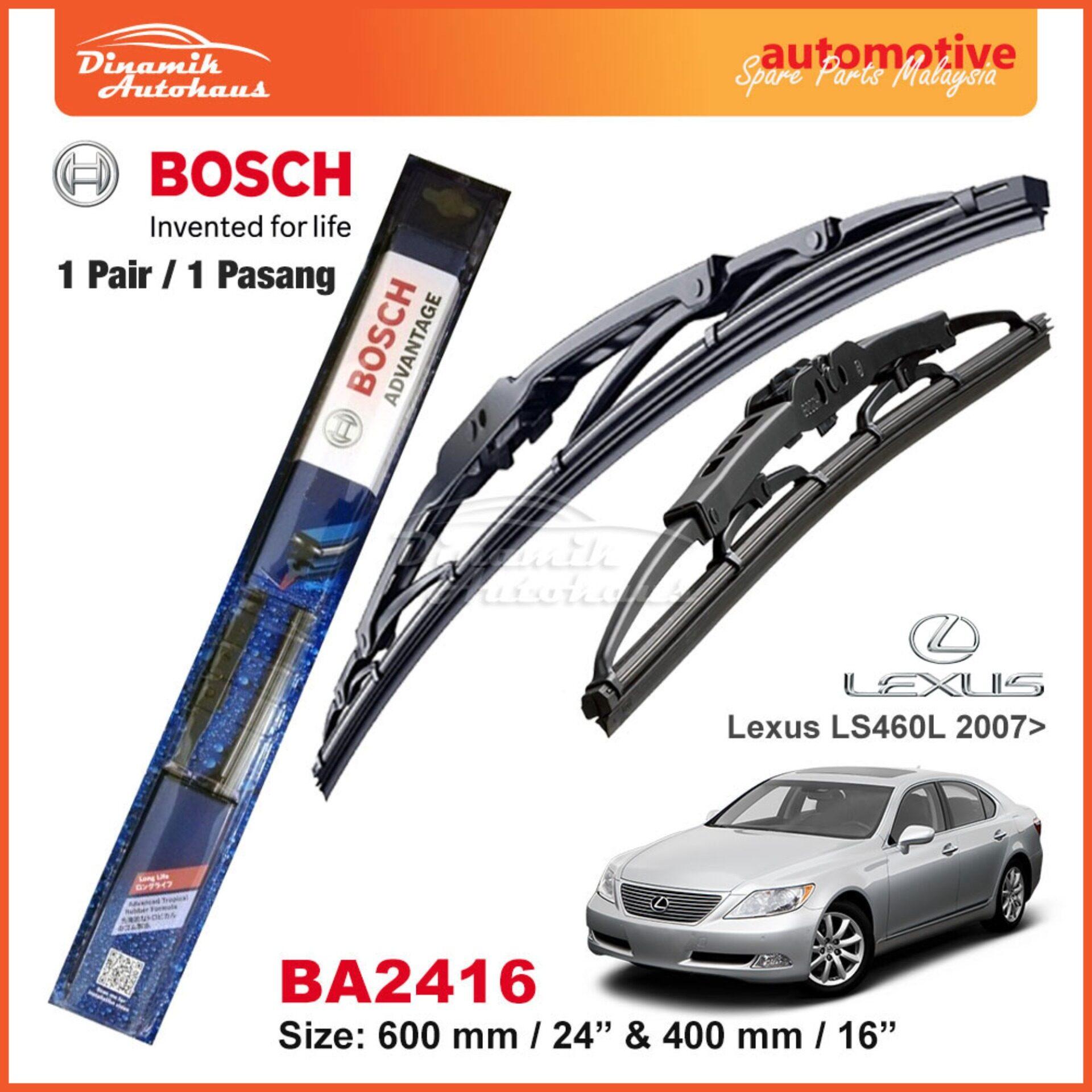 Toyota Lexus LS460L Car Year 2007+ Windshield Wiper Blade 24  / 16  Bosch Advantage BA2416