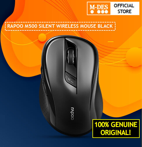 Rapoo M500 Silent 2.4G Wireless Multi Mode Mouse Black Smart switch Bluetooth Mouse 3.0 4.0, Connect up to 3 Devices ,DPI values1600
