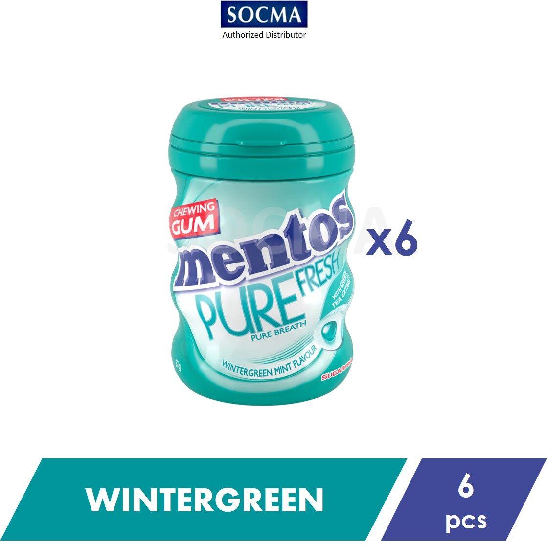 Mentos Pure Fresh French Bottle Wintergreen 57G [6]