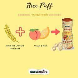 Natufoodies: Rice Puff - Orange Peach (BEST BUY)