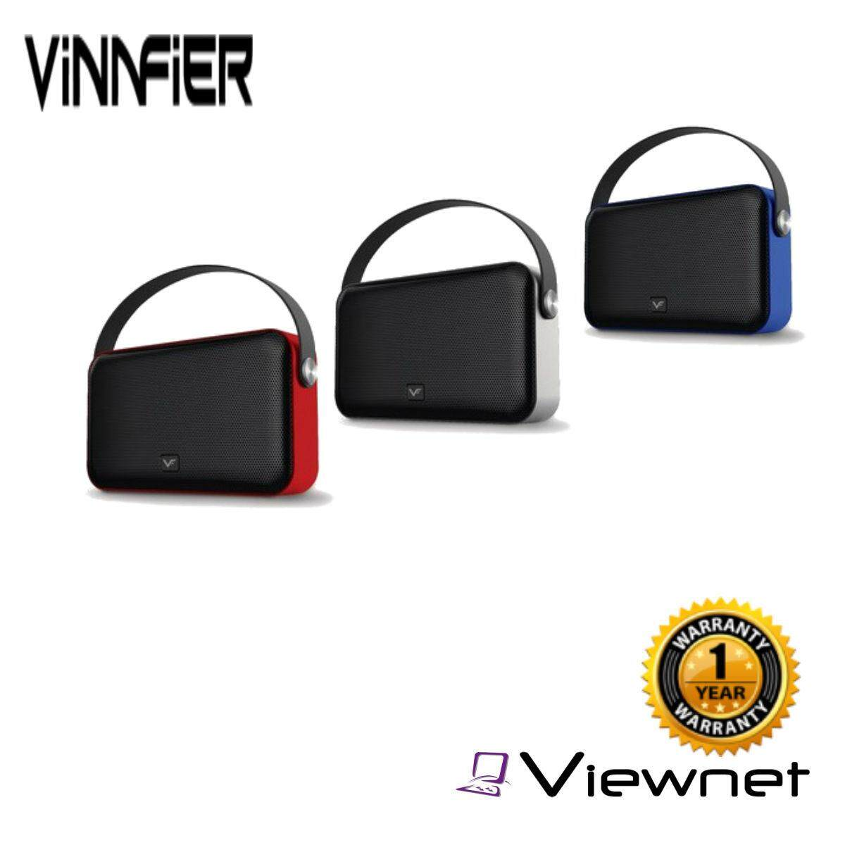VINNFIER Neo Boom PLUS Wireless Bluetooth portable speaker with USB Drive , Micro SD slot and FM Radio (BLACK/GREY/BLUE/RED)