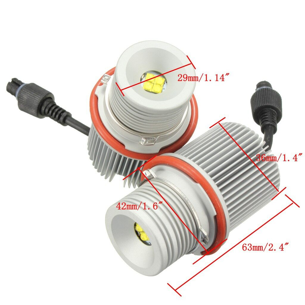 Car Lights - 40W High Power LED Light Error Free For BMW E39 E60 An Eyes Halo Ring Marker - Replacement Parts