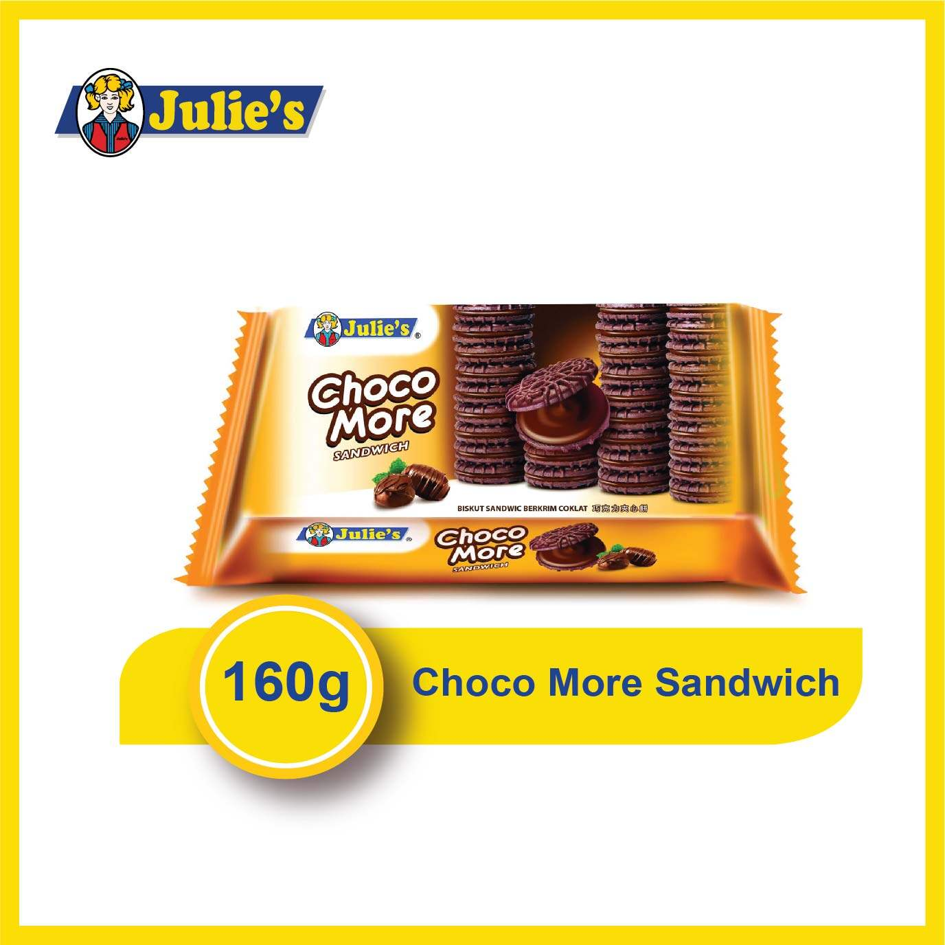 Julie's Choco More Sandwich 160g x 1 packet