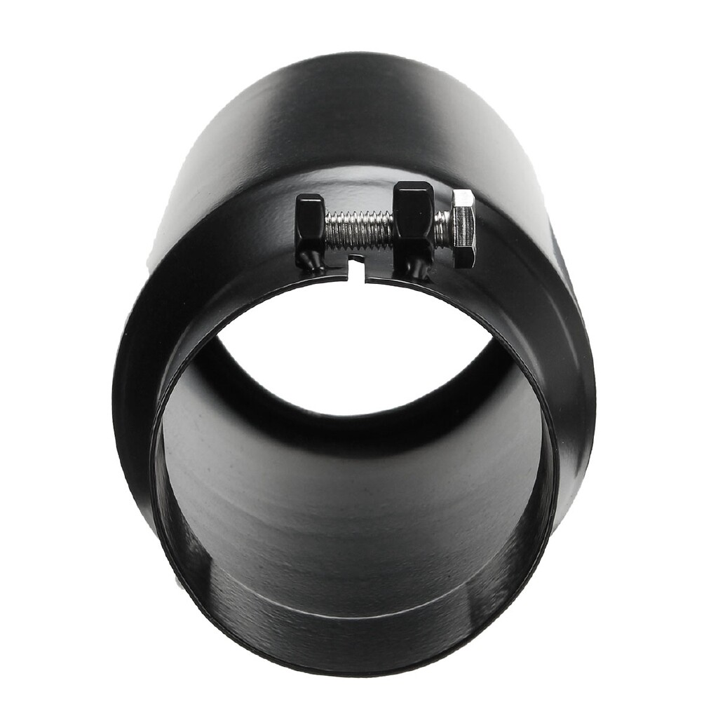 Moto Accessories - Black Exhaust Tip Stainless Steel 3'' Inlet 4'' Outlet 12inch Long Diesel Car - Motorcycles, Parts