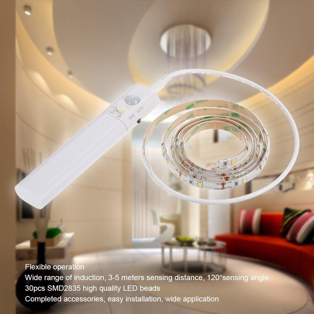 Lighting - Sensitive PIR Motion Sensor Strip Light Cabinet Lamp with Automatic & Manual 2 S - WHITE / WARM WHITE
