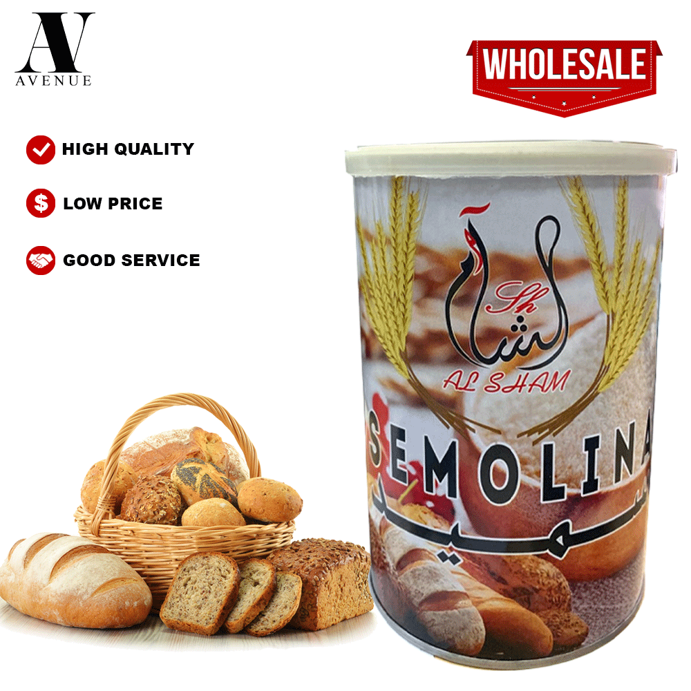 AlSham Semolina Flour 1 kg - Tepung Suji Halus Arab سميد