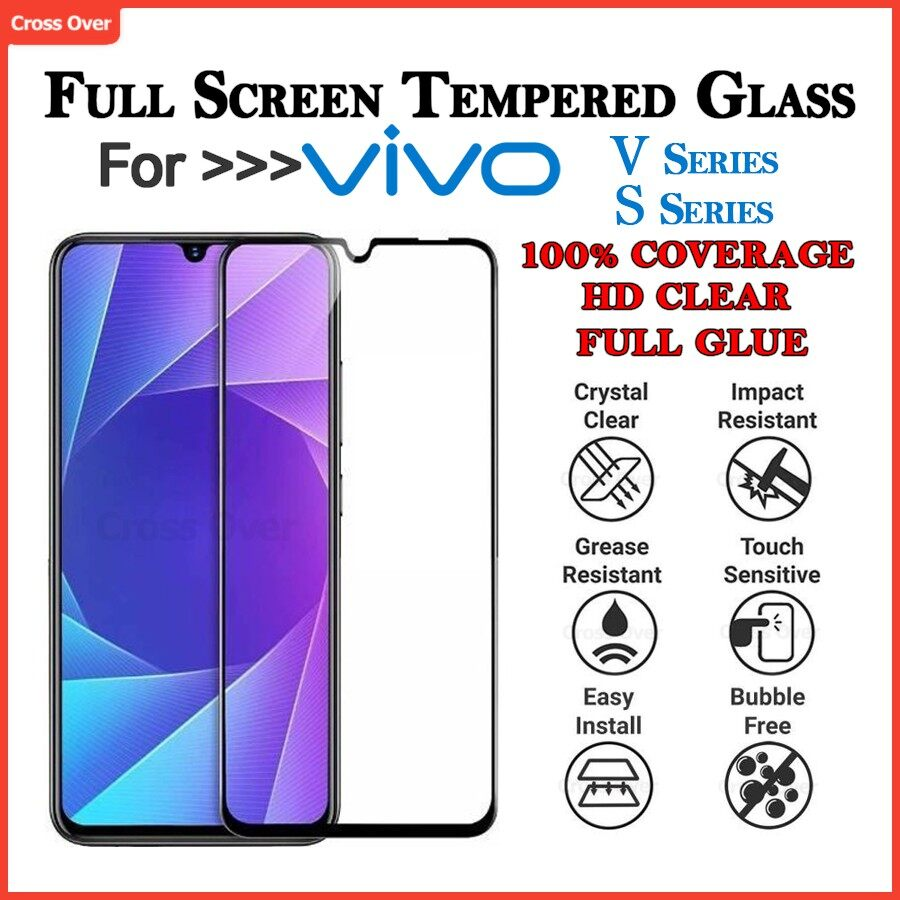 VIVO V5 V5 PLUS V7 V7 PLUS V9 V11 V11i V15 V15 PRO V17 V17 PRO V19 V20 V20SE X50 S1 S1PRO Full Screen Protector Tempered Glass HD Clear
