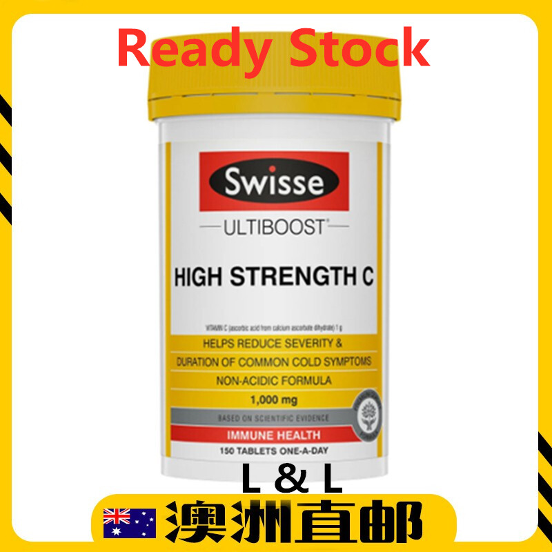 [Ready Stock EXP: 11/2022yr] Swisse Ultiboost High Strength Vitamin C 1000mg 150tablet (Made in Australia)
