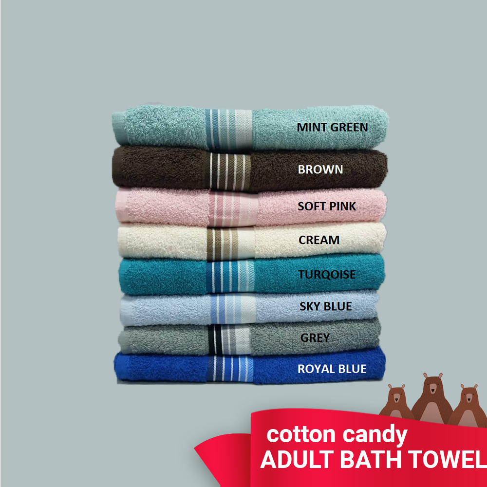 COTTON CANDY TOWEL : 400 Grams: 100% Natural Cotton / READY STOCK / Fast Shipping / Comfortable