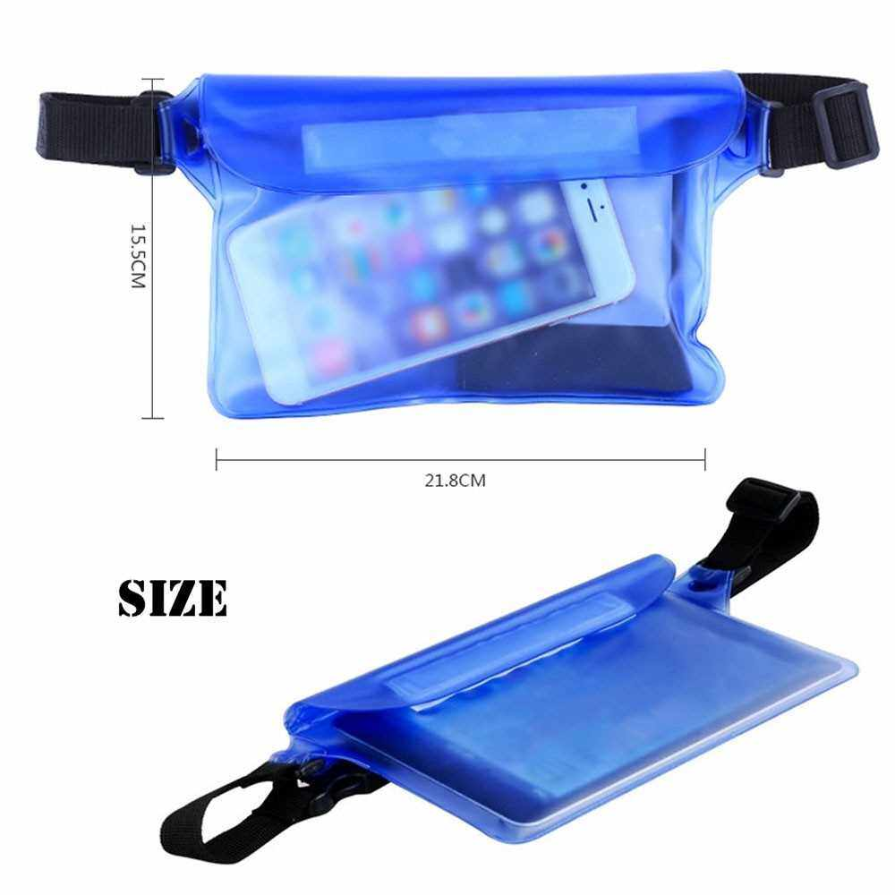 Best Selling Waterproof Outdoor Swimming Drifting Pouch Dry Bag PVC Waist Phone Cover Storage Protective Bag White (White)
