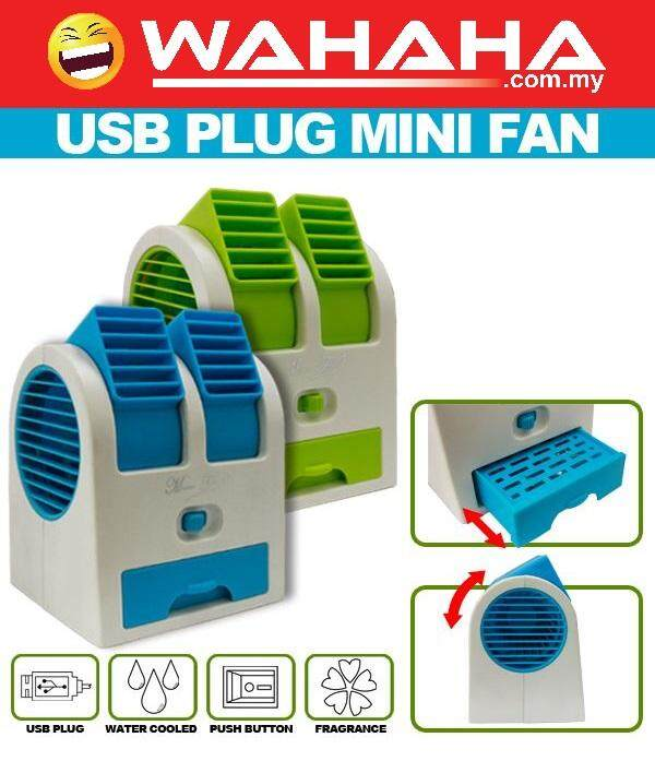 Portable Mini Air Conditioning Fan Cooling Handheld Pocket USB Mini Fan Blue