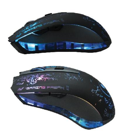 AVF Gaming Freak ll AGM-X1 Gaming Mouse (AGM-X1) Grey, 3000DPI, 6D Laser Mouse