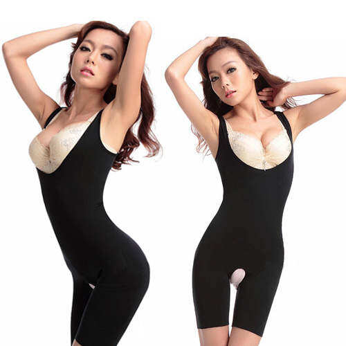 Natural Bamboo Charcoal Slimming Suit Corset Push Up Firm Waist Lingerie