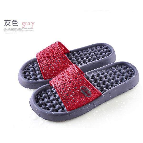 (Ready Stock in Selangor) Anti Slippery Bathroom/Indoor Slipper with HOLE - Gray