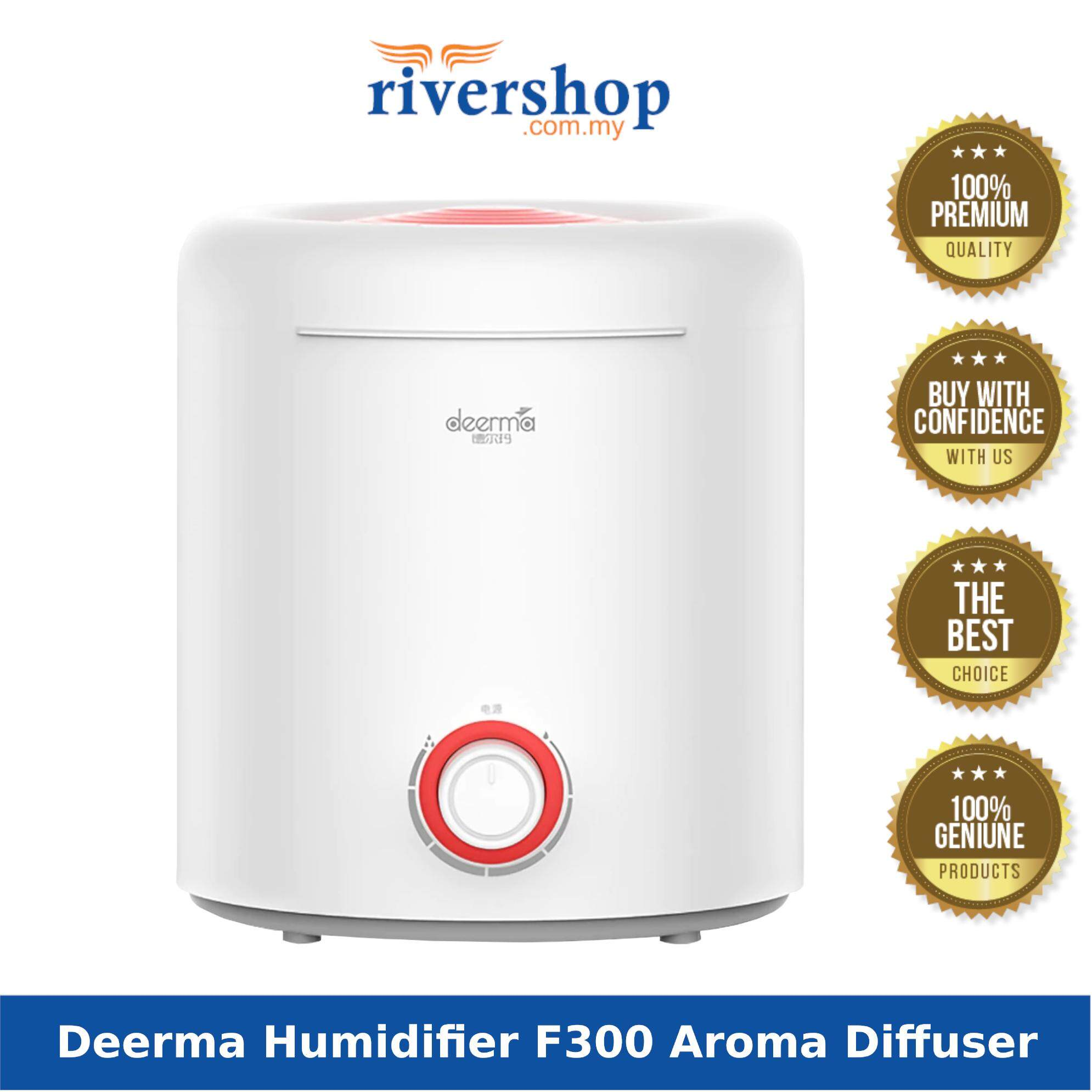 Deerma F300 Air Humidifier / Aroma Diffuser (Fill In Water From Top Tank 2.5L) / Deerma DEM-F300 Portable Mute Ultrasonic Water Humidifier Essential Oil Aromatherapy Machine Home Office Mist Maker For Diffuser