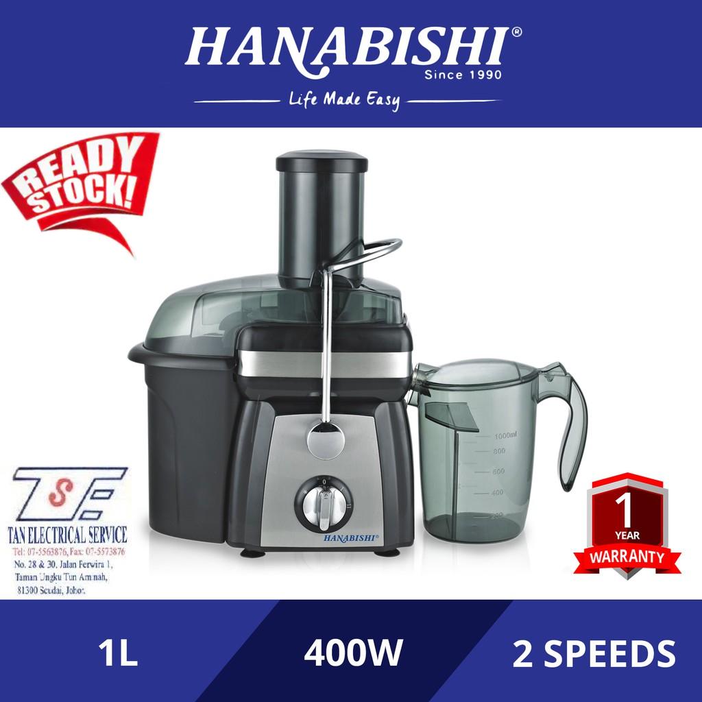 Hanabishi Juice Extractor - HA8080J 400W 1 Litre 2 Speeds