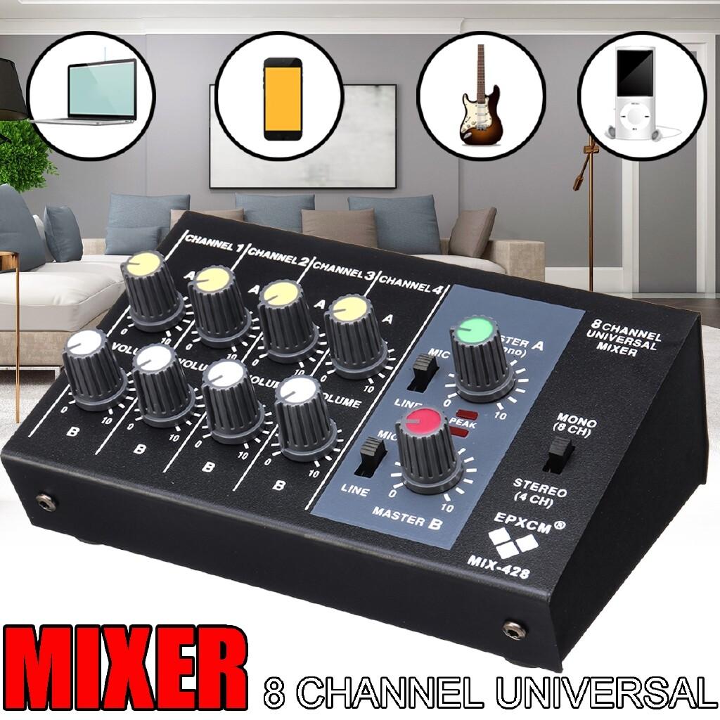 Mixers & Blenders - MECO Pro Audio Mixer Mixing Console MINI 8 Channels Universal Mixer Live Studio - Small Kitchen Appliances