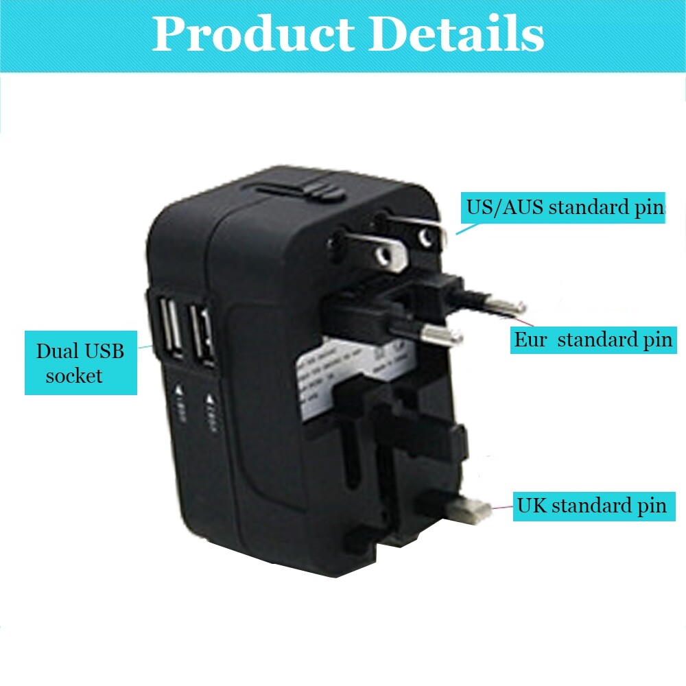 DIY Tools - Universal USB Global Charging Head Travel Converter - Home Improvement