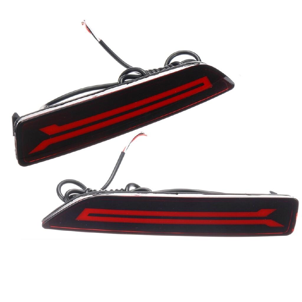 Car Lights - 2x LED Rear Bumper Lamp Reflector Stop Brake Light For Honda CRV CR-V 2007-2009 - Replacement Parts
