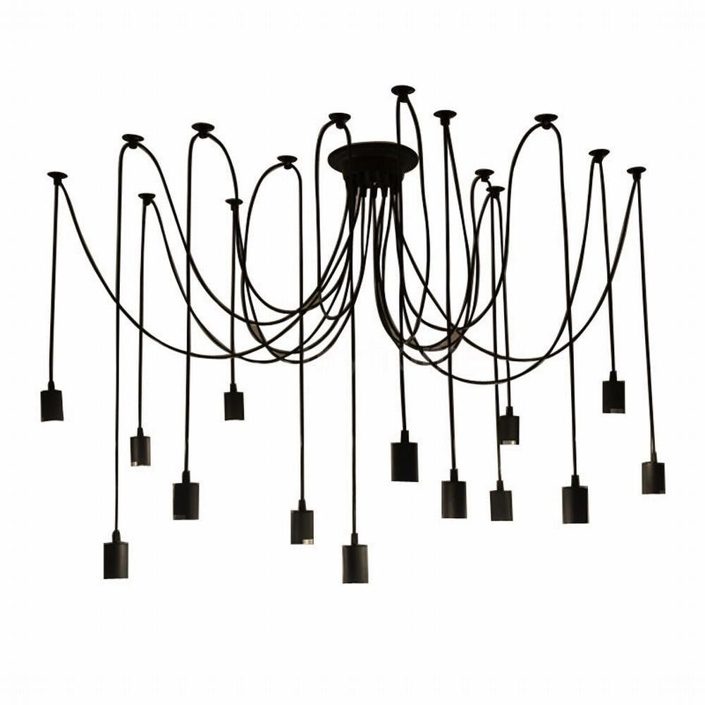 Lighting - 14 Arms E27 Ceiling Spider Pendant Lamp Light Antique Classic Adjustable DIY Retro - Home & Living