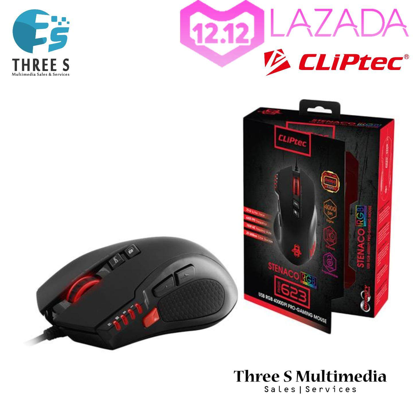 Cliptec RGS623 4000dpi Gaming Mouse / Gamer Mouse