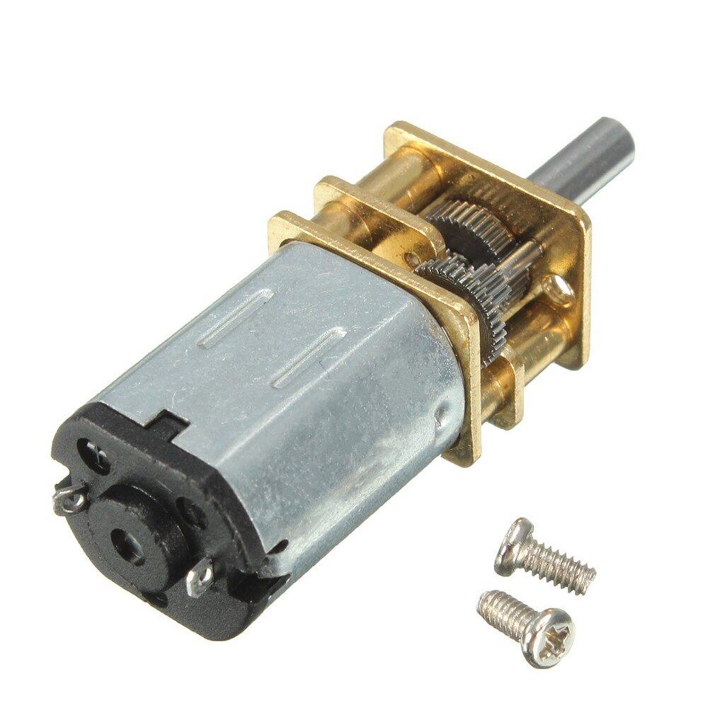 Moto Accessories - DC 12V 100RPM MINI Metal Gear Motor with Gearwheel Model:N20 3mm Shaft Diameter - Motorcycles, Parts
