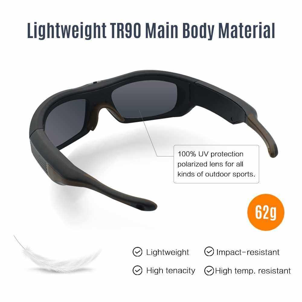 Smart Video Recording Sunglasses 1080P FHD Action Camera (Blue)