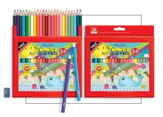 CAMPAP CM9508 24s JUMBO COLOUR PENCIL x 2bxs