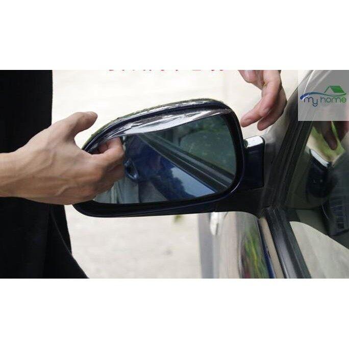 Engine Parts - 2 PIECE(s) Flexible PVC Car Rearview Mirror Rain Shade Rainproof Blades Black - Car Replacement