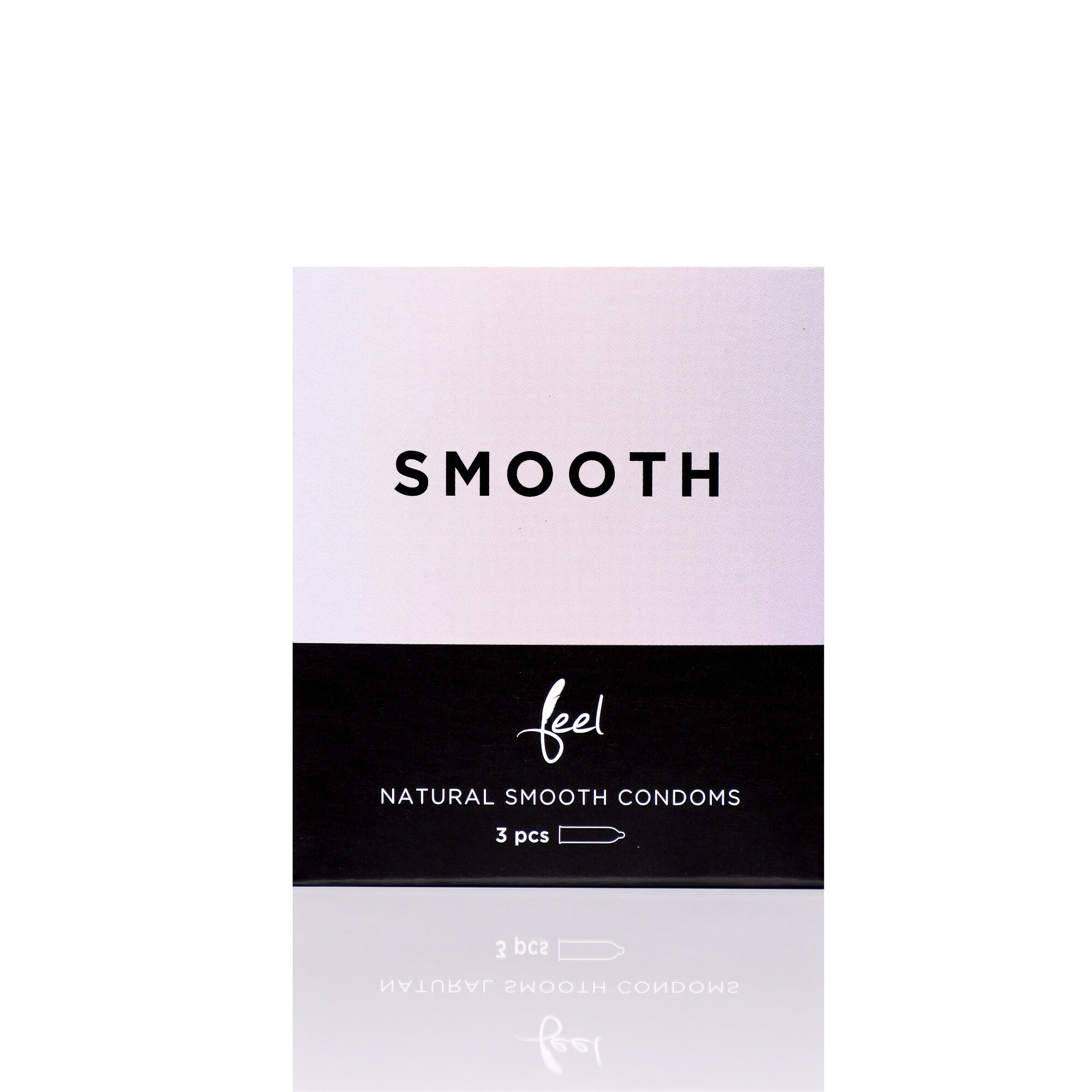 Nulatex Feel Smooth Natural & Seamless Condoms 3pcs