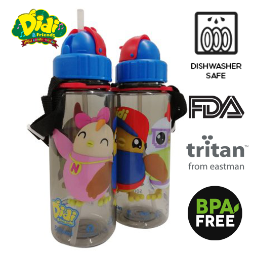 Didi And Friends 500ml Tritan Bottle With Straw (1 pc)