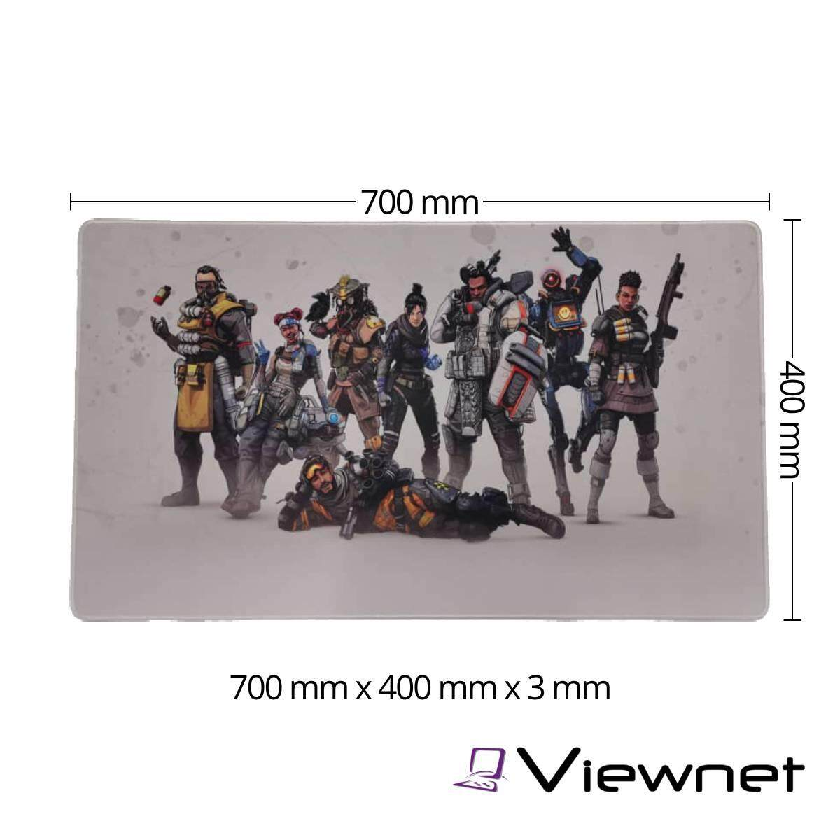 Gaming Series Special Edition Large Size Anti-Slip Extended Mousepad (700mm*400mm*3mm)