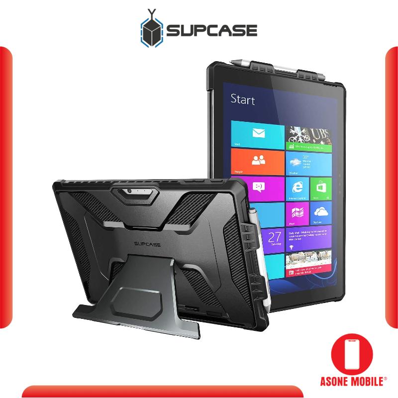 Original SUPCASE UB PRO Microsoft Surface Pro 7/Pro 6/Pro 5/Pro 4/Pro LTE (Black) Full-Body Kickstand Rugged Protective Case
