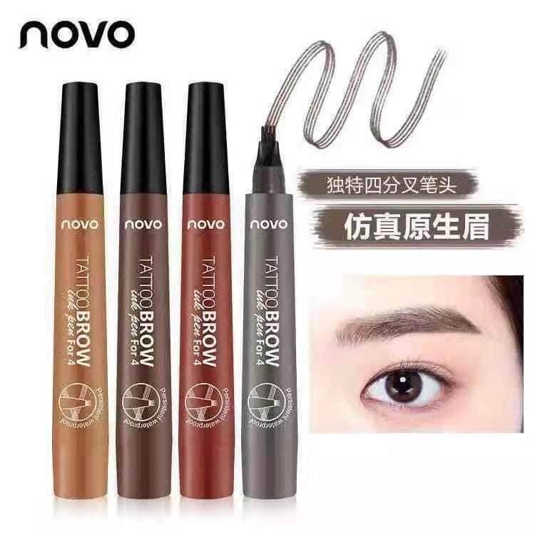 NEW !! Novo Tattoo Quick Drying Eyebrow Pen Makeup Accessories