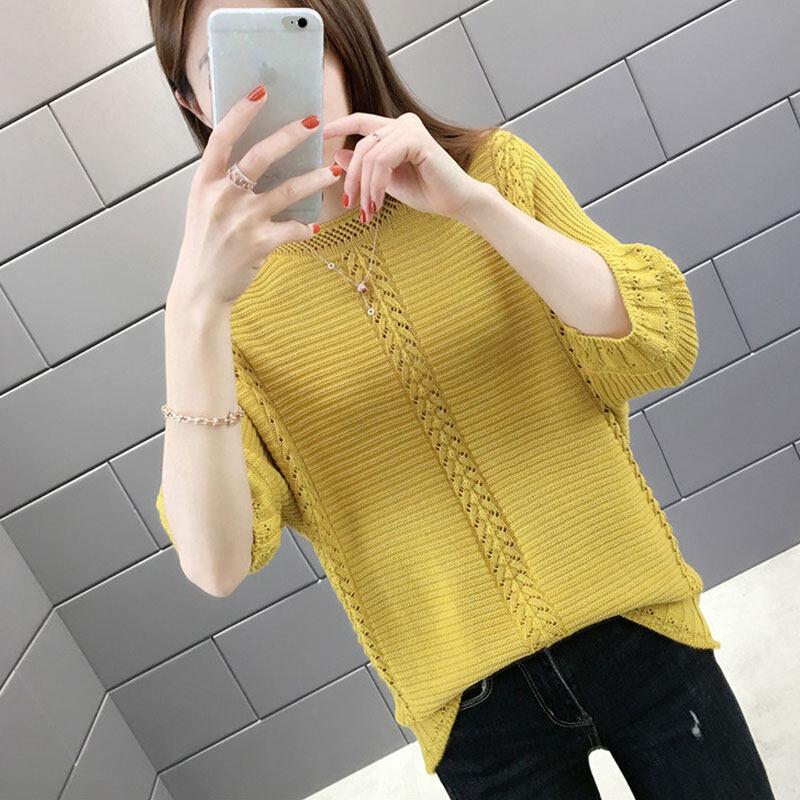 Pre order 14 Days JYS FashionKoreanStyleWomenKnitTopCollection4779 Yellow M col5361