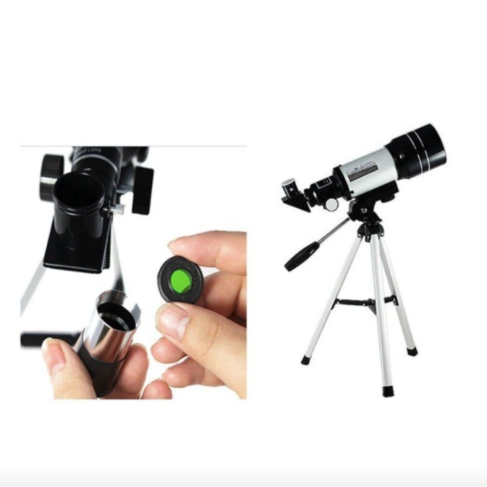 [ FREE GIFT + FAST DELIVERY ] PRO 150X Zoom Astronomical Telescope Free Handphone Holder Free Star Map Tripod Teleskop Nigh Vision Refraction System Professional Star Gazer
