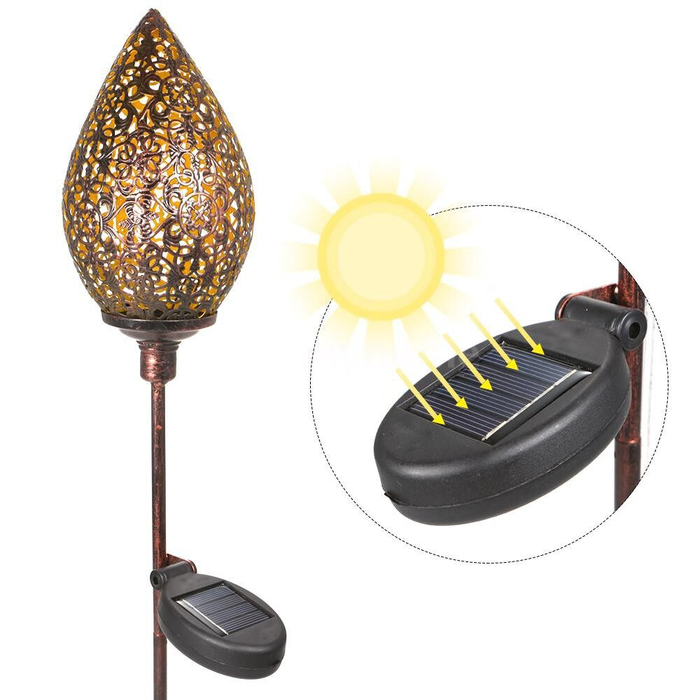 Outdoor Lighting - Solar Football Type Lantern Outdoor Hanging Lanterns Garden Lights Decor Metal Yard - OLIVE TYPE