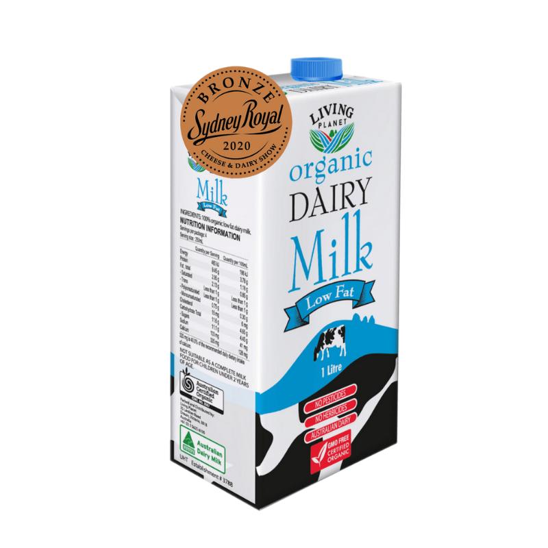 MILK Living Planet Organic Dairy Milk Low Fat (1L) EURO SNACKS