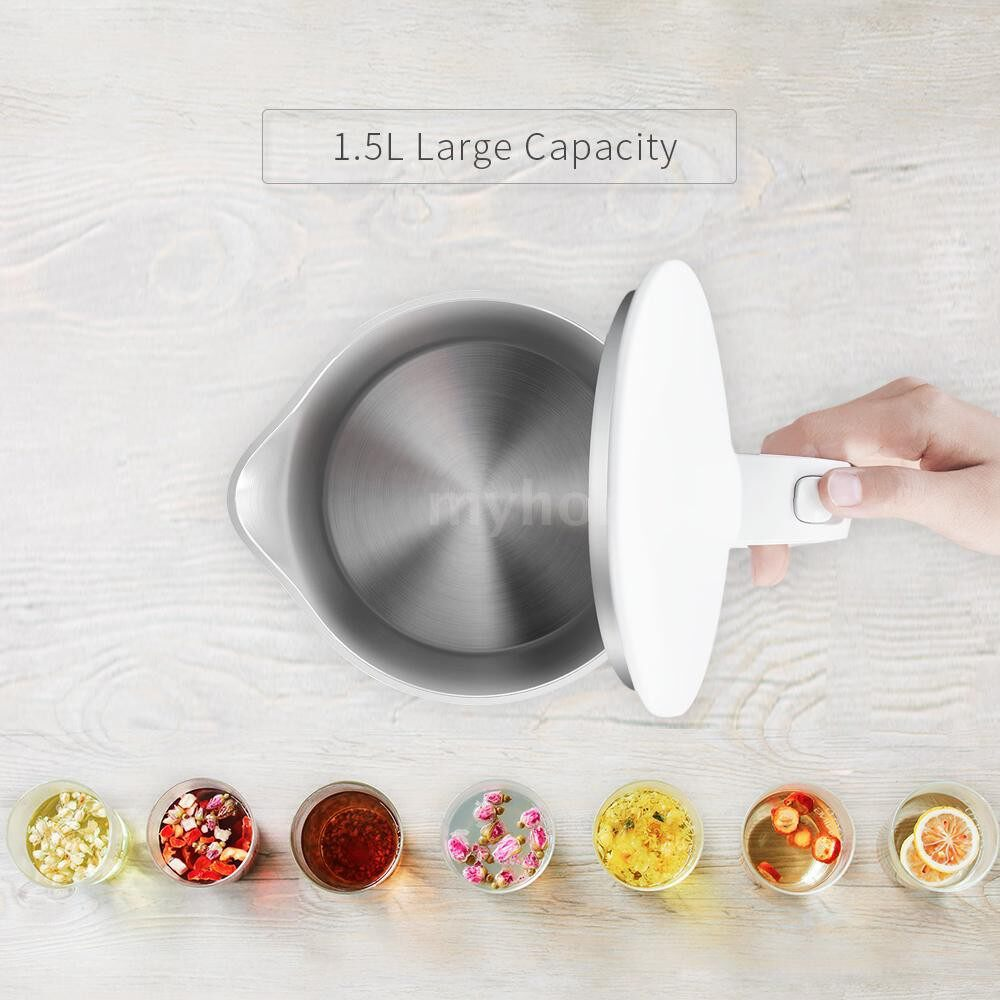 Small Kitchen Appliances - Xiaomi High-end 1.5L Stainless Steel Electric Kettle Cordless Jug Kettle 220V - #