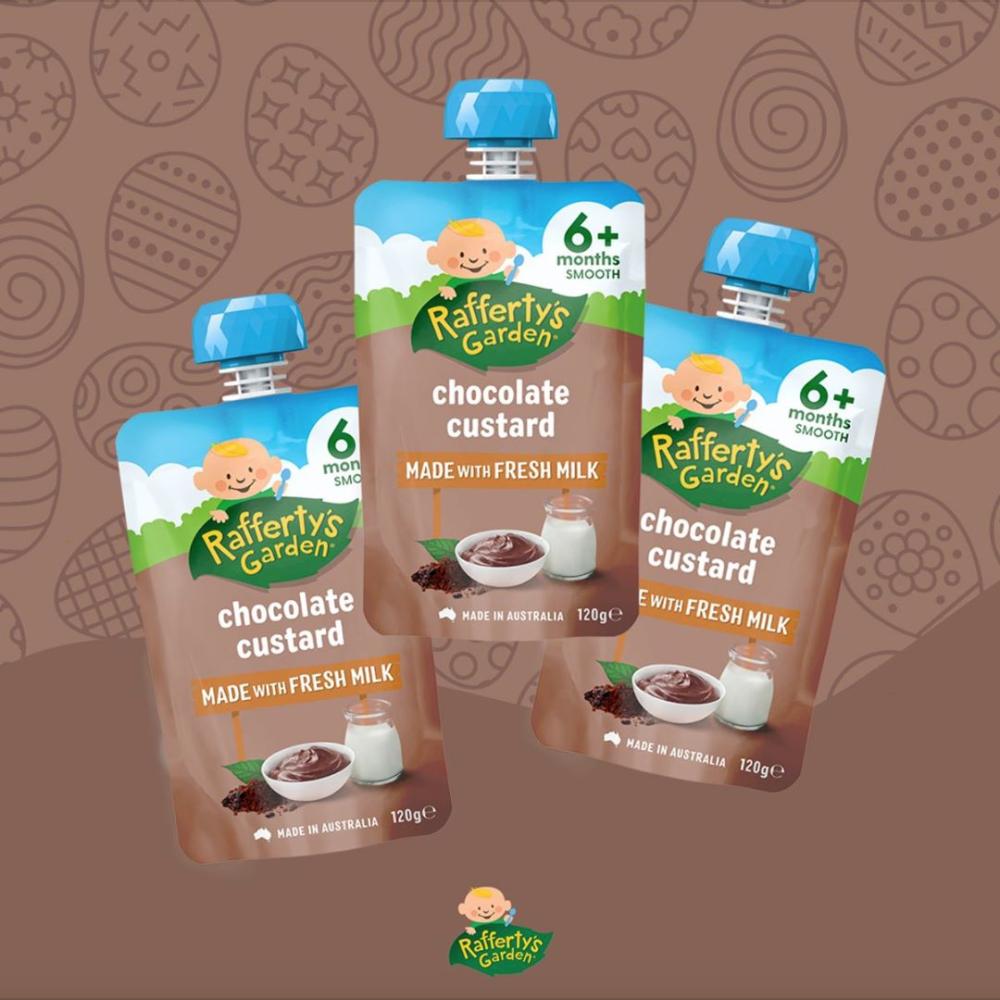 Rafferty\'s Garden Chocolate Custard Baby Puree 6+m [Exp Date: Dec 2021]