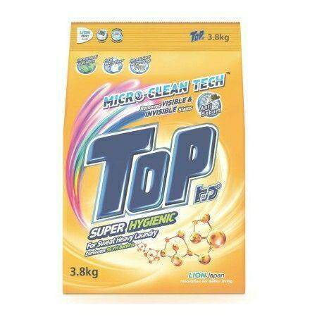 TOP SUPER HYGIENIC POWDER DETERGENT LAUNDRY 3.8 KG READY STOCK