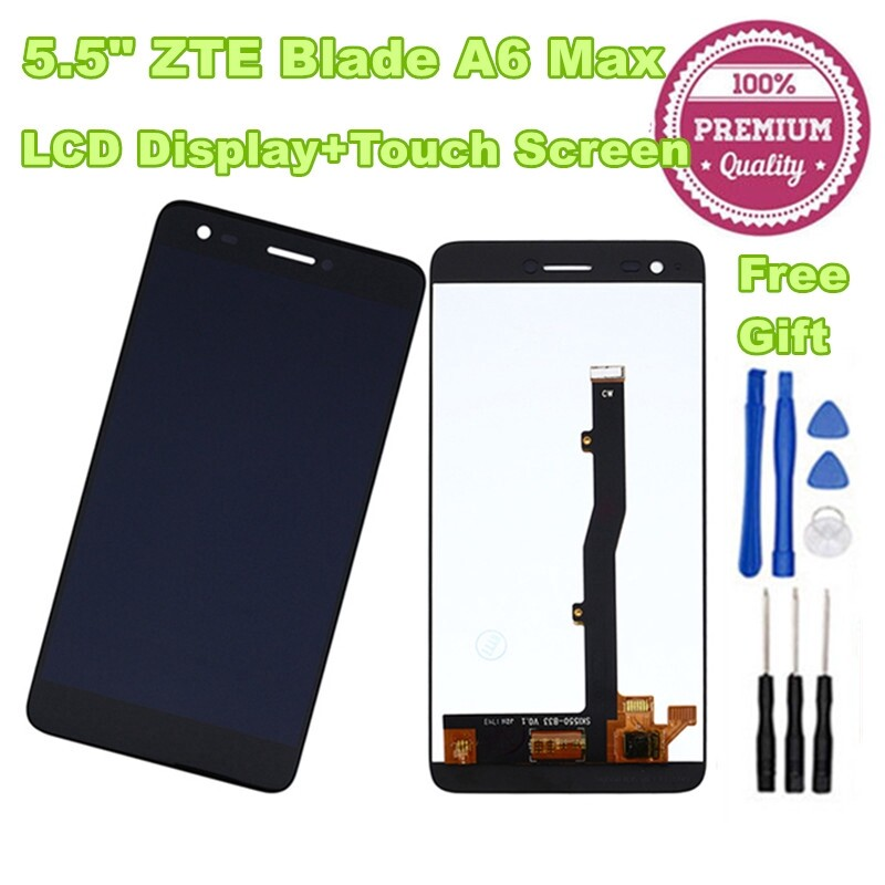 For 5.5 ZTE Blade A6 Max LCD Display and Touch Screen Digitizer Assembly +Tools
