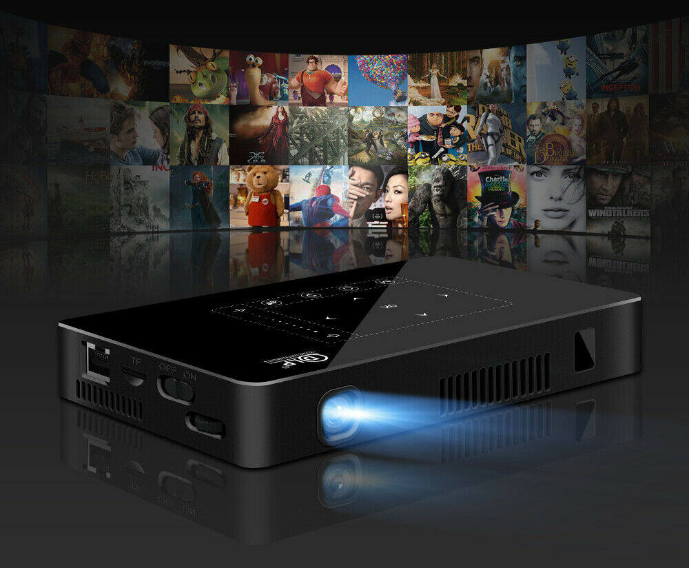 P10 Android 2G 16G WIFI Bluetooth with Battery Support 1080P 4K Mini Projector Smart Home Theater