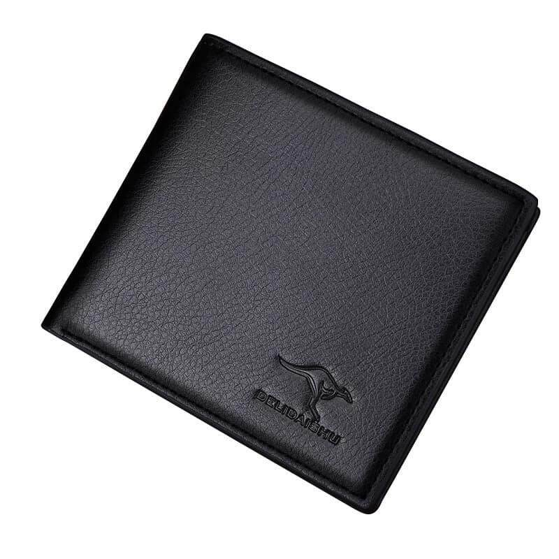 [M\'sia Warehouse Direct] 100% Cowhide Leather / PU Leather 2019 Korean Series Men\'s Fashion Wallet Bi-Fold Fengshui Wallet Perfect Gift (Come With Box) Clutch Card Coins Cash Slot With Zip Portable Hand Carry Bag Luxury Top Material Halal Dompet Kulit