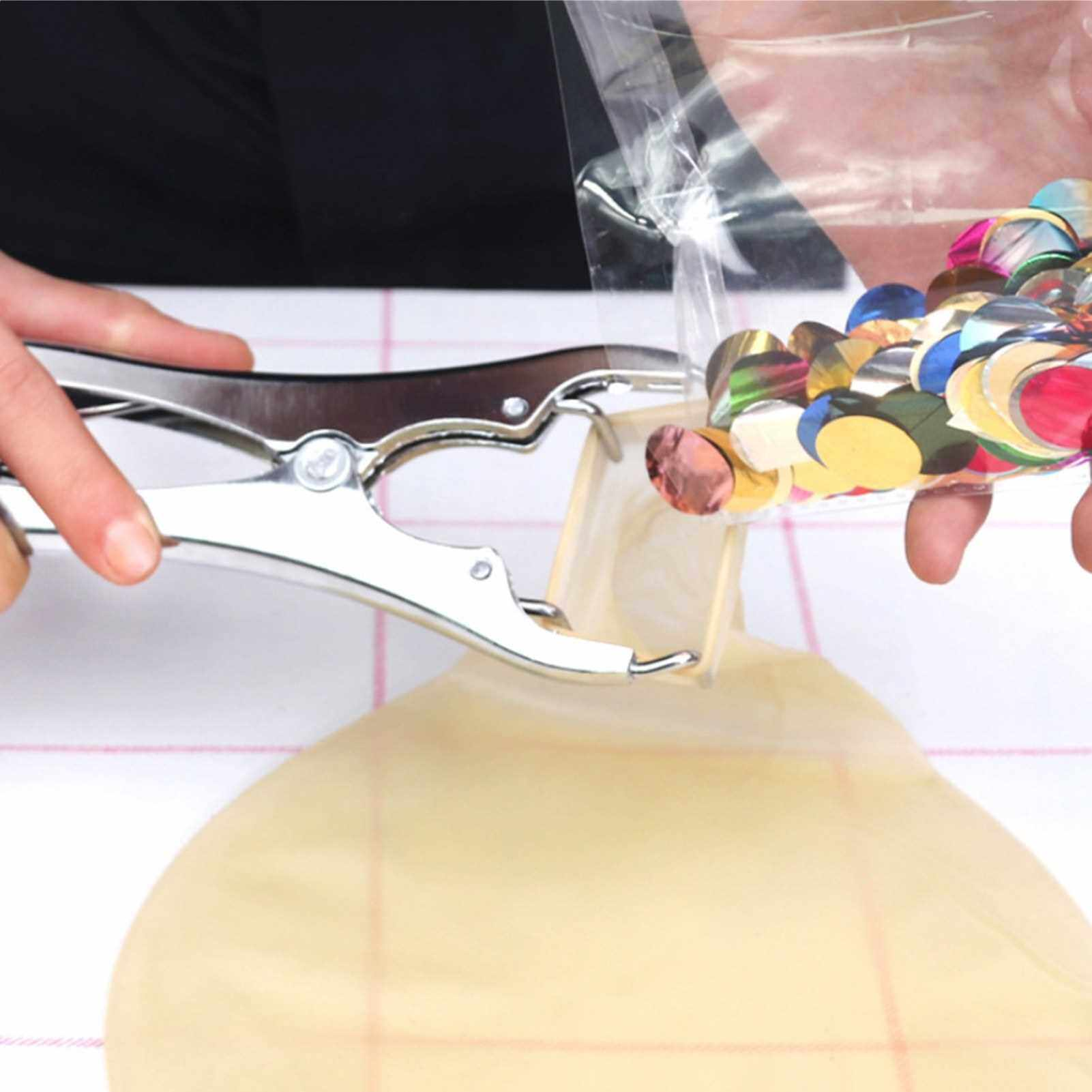 Stainless Steel Balloon Expansion Pliers Balloon Sequins Filling Expand Tool (Standard)