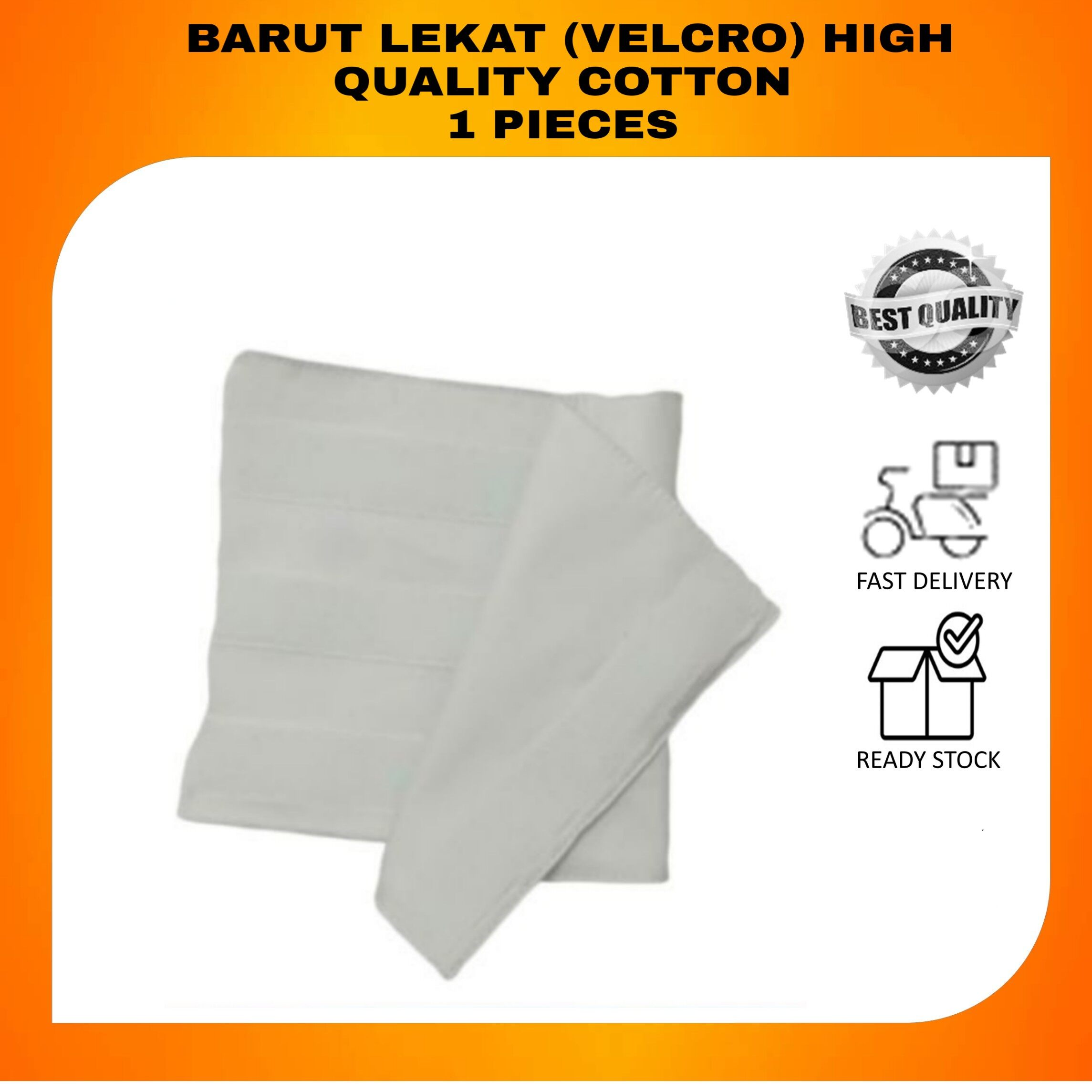 BEST BUY BARUT LEKAT (VELCRO) HIGH QUALITY COTTON