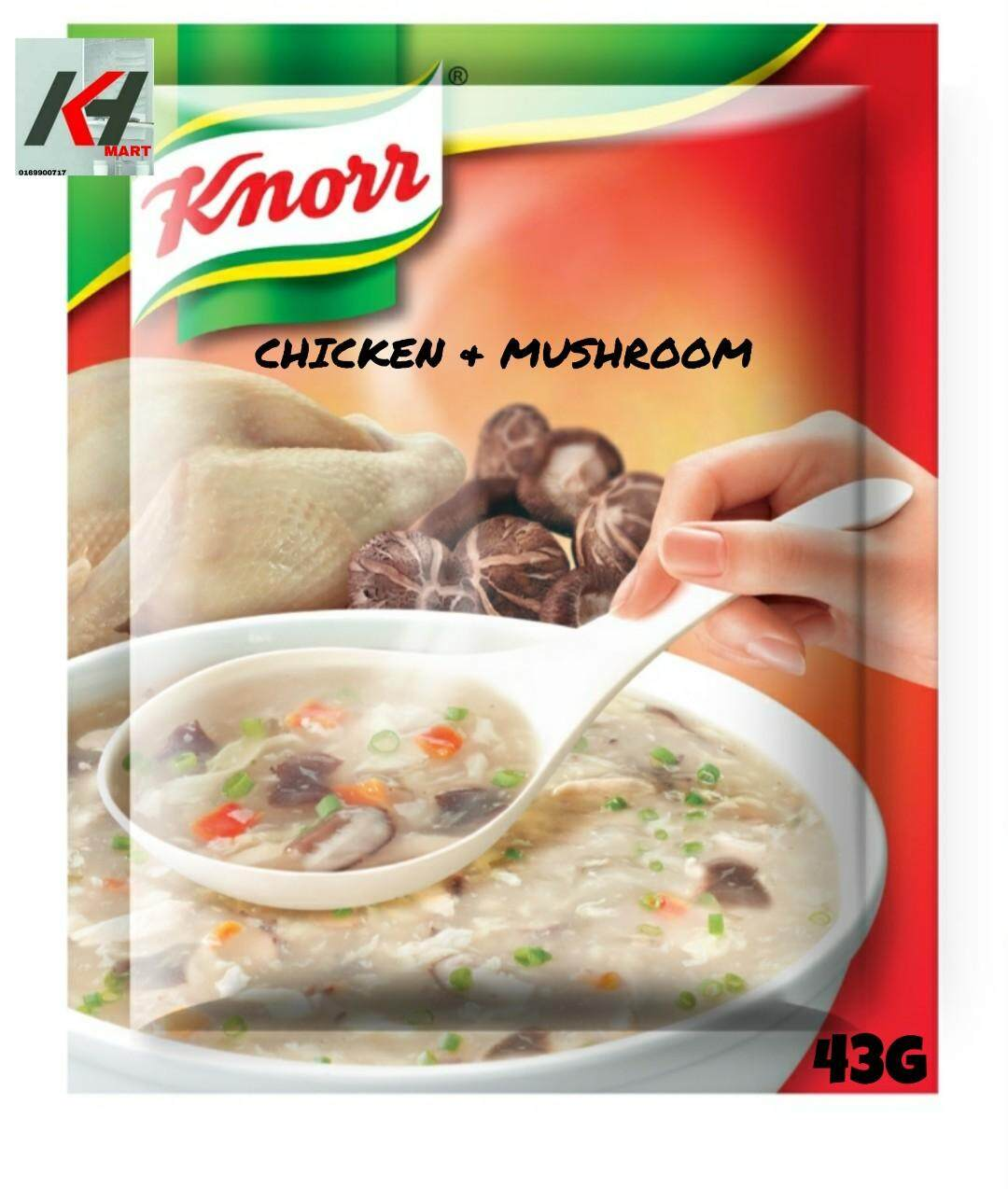 KNORR SOUP CHICKEN AND MUSHROOM 43G READY STOCK