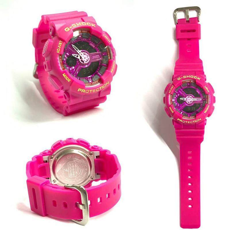 SPECIAL PROMOTION G..SHOCK_GA110 DUAL TIME RUBBER STRAP WATCH FOR MEN